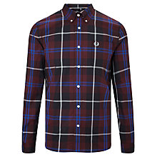 Buy Fred Perry Modern Check Shirt, Mahogany Online at johnlewis.com