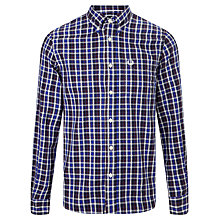 Buy Fred Perry Marl Gingham Shirt, Service Blue Online at johnlewis.com