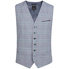 Buy Ted Baker Havwai Check Suit Waistcoat, Blue Online at johnlewis.com