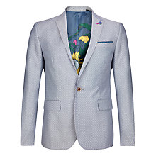 Buy Ted Baker Shemshy Patterned Suit Jacket, Light Grey Online at johnlewis.com