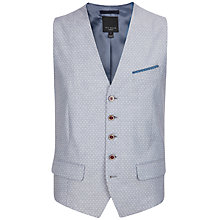 Buy Ted Baker Shemwai Patterned Waistcoat, Light Grey Online at johnlewis.com