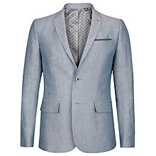 Buy Ted Baker Niteyes Herringbone Linen Blend Jacket, Blue Online at johnlewis.com