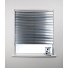 Buy Swish Cordless Metal Venetian Blind, 25mm, Silver Online at johnlewis.com