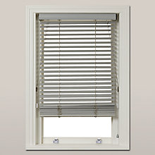 Buy John Lewis Croft Collection FSC Wood Venetian Blind, 35mm, Blue Grey Online at johnlewis.com