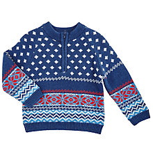 Buy John Lewis Baby's Fairisle Sweater, Blue Online at johnlewis.com