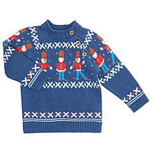 Buy John Lewis Baby's Soldier Jumper, Navy Online at johnlewis.com