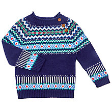 Buy John Lewis Baby's Piecrust Jumper, Navy Online at johnlewis.com