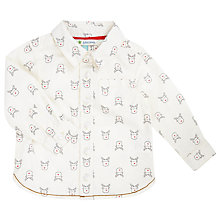 Buy John Lewis Baby's Reindeer Print Shirt, Cream Online at johnlewis.com