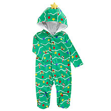 Buy John Lewis Baby's Christmas Tree Dress Up Romper, Green Online at johnlewis.com