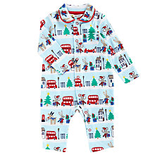 Buy John Lewis Baby's London Scene Romper, Blue Online at johnlewis.com