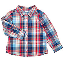 Buy John Lewis Baby's Check Shirt, Blue/Red Online at johnlewis.com