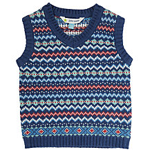 Buy John Lewis Baby's Fairisle Sleeveless Jumper, Multi Online at johnlewis.com