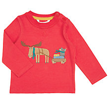 Buy John Lewis Baby's Moose and Mouse T-Shirt, Red Online at johnlewis.com