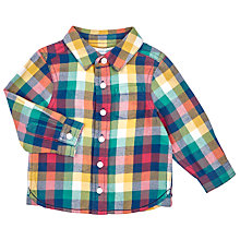 Buy John Lewis Baby's Flannel Shirt, Yellow/Multi Online at johnlewis.com