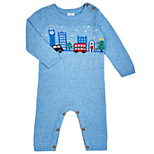 Buy John Lewis Baby's London Sleepsuit, Blue Online at johnlewis.com