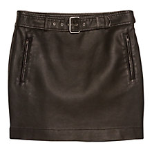 Buy Mango Belt Biker Skirt, Black Online at johnlewis.com