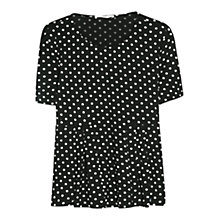 Buy Mango Polka Dot T-Shirt, Black Online at johnlewis.com