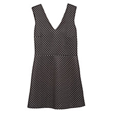 Buy Mango Neoprene Effect Polka Dot Dress, Black Online at johnlewis.com