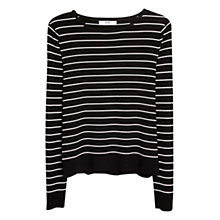 Buy Mango Fine Knit Striped Sweater Online at johnlewis.com