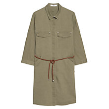 Buy Mango Linen Blend Shirt Dress, Khaki Online at johnlewis.com