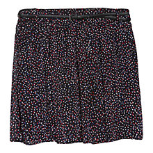 Buy Mango Belt Printed Skirt, Black Online at johnlewis.com