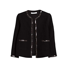 Buy Mango Bead Cotton Jacket, Black Online at johnlewis.com