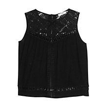 Buy Mango Crochet Panel Top Online at johnlewis.com
