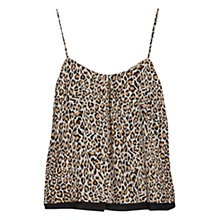 Buy Mango Leopard Print Top, Black Online at johnlewis.com