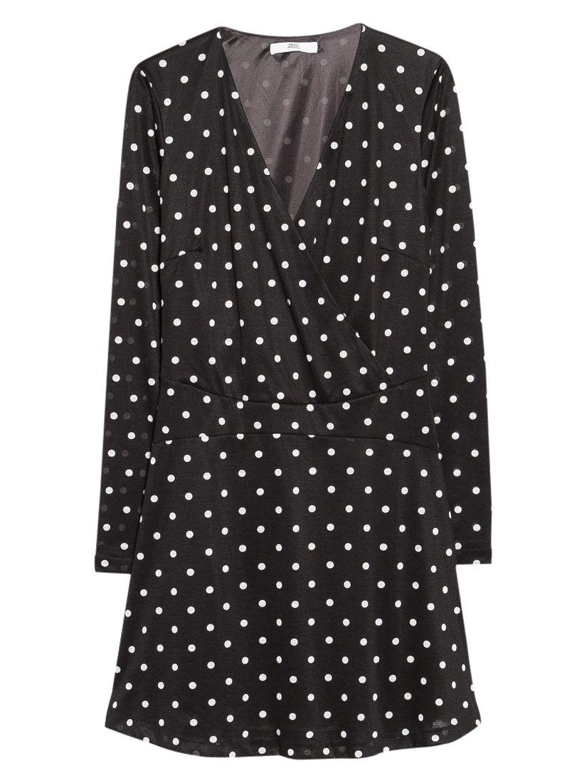 mango polka dot flared dress black, mango, polka, dot, flared, dress, black, 10|12|6|8, women, womens dresses, 1931470
