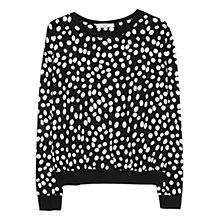 Buy Mango Circle Print Sweatshirt, Black Online at johnlewis.com