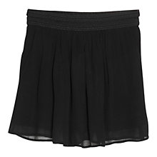 Buy Mango Trim Chiffon Skirt, Black Online at johnlewis.com
