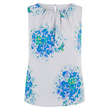 Buy Hobbs Hydrangea Silk Blend Top, Blue Multi Online at johnlewis.com