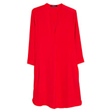 Buy Mango Flowy Shirt Dress, Bright Red Online at johnlewis.com