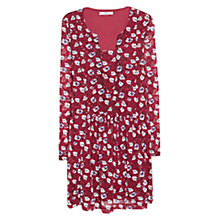 Buy Mango Flower Print Dress, Dark Red Online at johnlewis.com