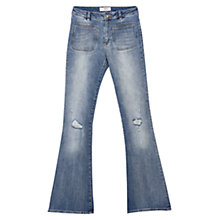 Buy Mango Flared Jeans, Dark Blue Online at johnlewis.com