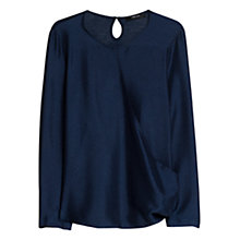 Buy Mango Satin Wrap Blouse Online at johnlewis.com