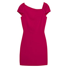Buy Mango Pleated Detail Dress, Dark Red Online at johnlewis.com