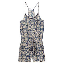 Buy Mango Printed Short Jumpsuit, Dark Blue Online at johnlewis.com