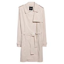 Buy Mango Zip Trench Coat, Light Beige Online at johnlewis.com