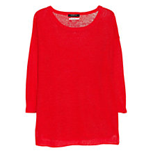 Buy Mango Fine Knit Linen Jumper Online at johnlewis.com