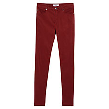 Buy Mango Skinny Lectra Jeans, Dark Red Online at johnlewis.com