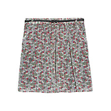 Buy Mango Floral Printed Skirt, Green Online at johnlewis.com
