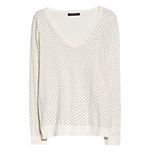 Buy Mango Polka Dot Jumper, Light Beige Online at johnlewis.com