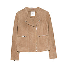 Buy Mango Suede Biker Jacket Online at johnlewis.com