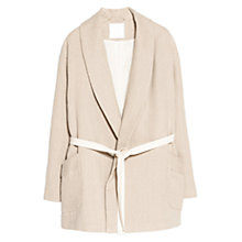 Buy Mango Premium Linen Blend Coat, Nude Online at johnlewis.com