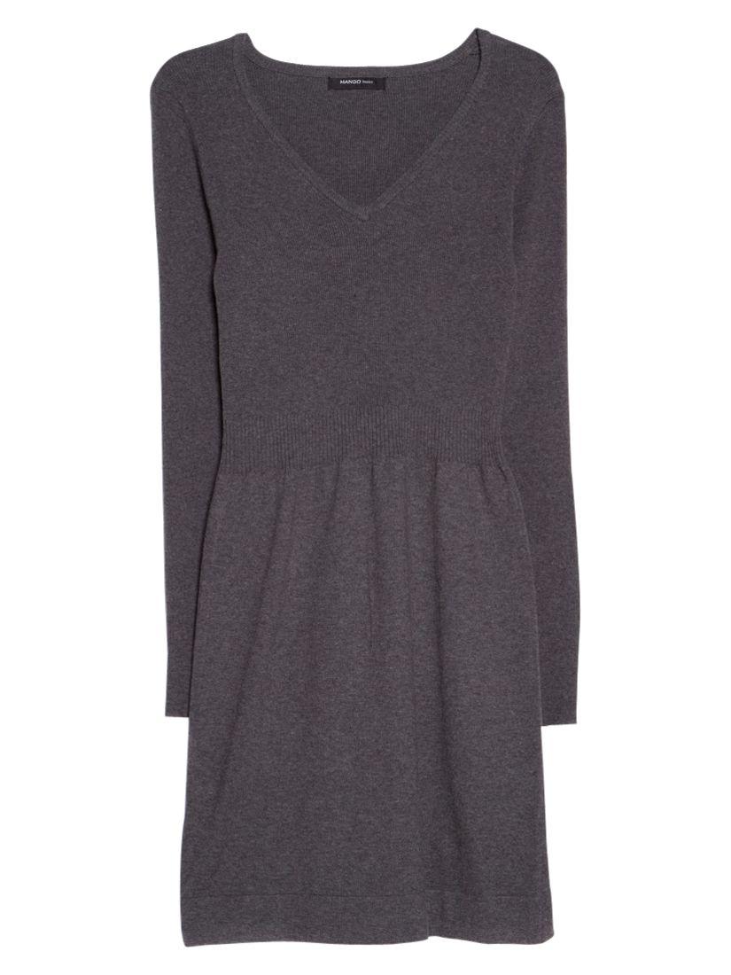 mango cotton blend knit dress medium grey, mango, cotton, blend, knit, dress, medium, grey, 10|12|14|8, women, womens dresses, 1935105