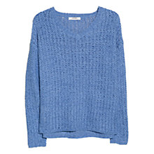 Buy Mango V-Neck Openwork Jumper Online at johnlewis.com