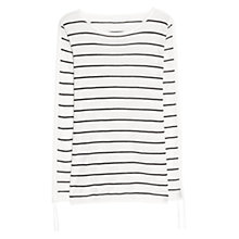 Buy Mango Premium Ribbed Knit Sweater, Natural White Online at johnlewis.com