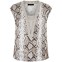 Buy Jaeger Python Print Silk Top, Multi Online at johnlewis.com