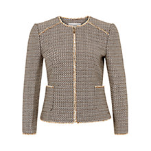 Buy Hobbs Jenna Jacket, Natural Online at johnlewis.com